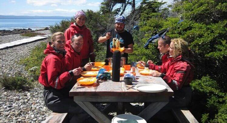 Almuerzo Estrecho Magallanes