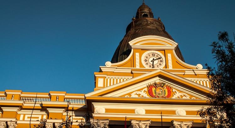 Palacio Quemado en La Paz