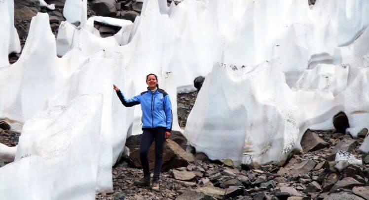 Glaciar camino al Plomo