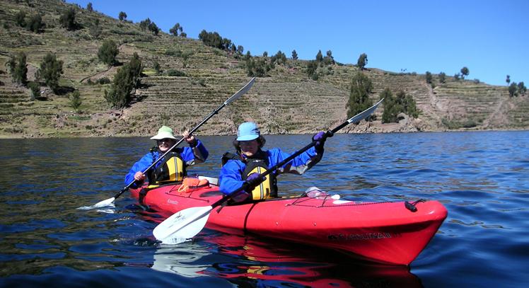 Kayak hacia Taquile