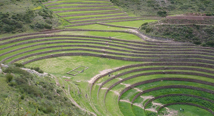 Terrazas de Moray en Valle Sagrado