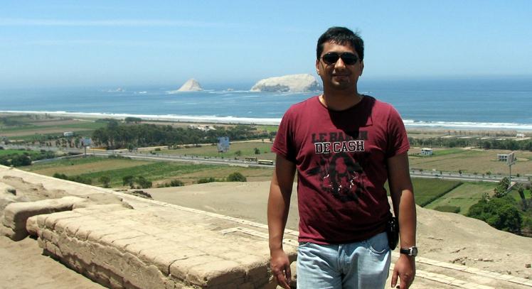 Vista al mar desde Pachacamac