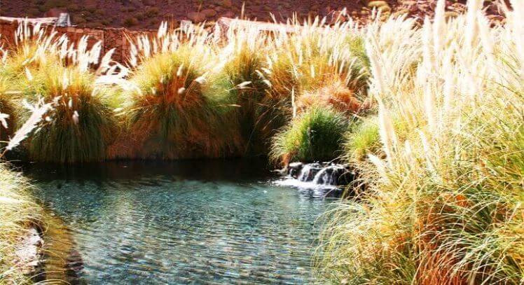 Cascada agua termal Puritama