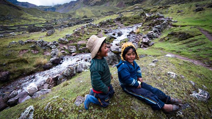 Niños en Lares Trek